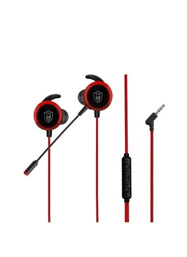 MF Product MF Product Strike 0643 Mikrofonlu Kablolu Kulak İçi Oyuncu Kulaklığı Kırmızı